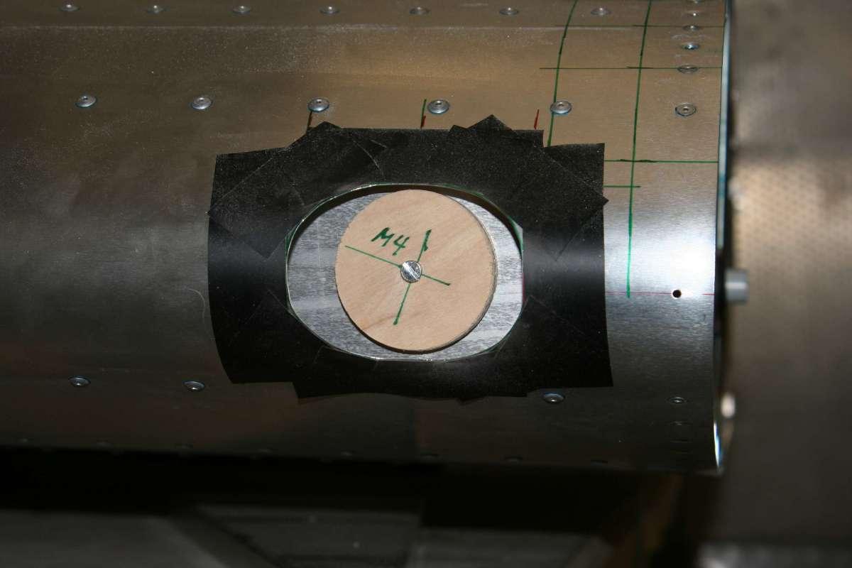 Left Landing Light Inner Hole Preparation